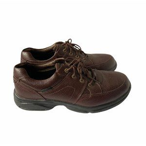 Propet Leather Walking Shoes Oxford Brown Men's